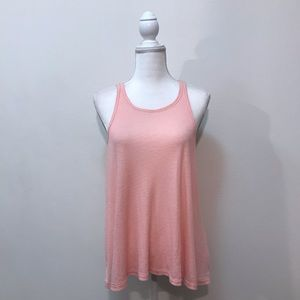 Free People Ribbed Blush Pink Tank Top Medium